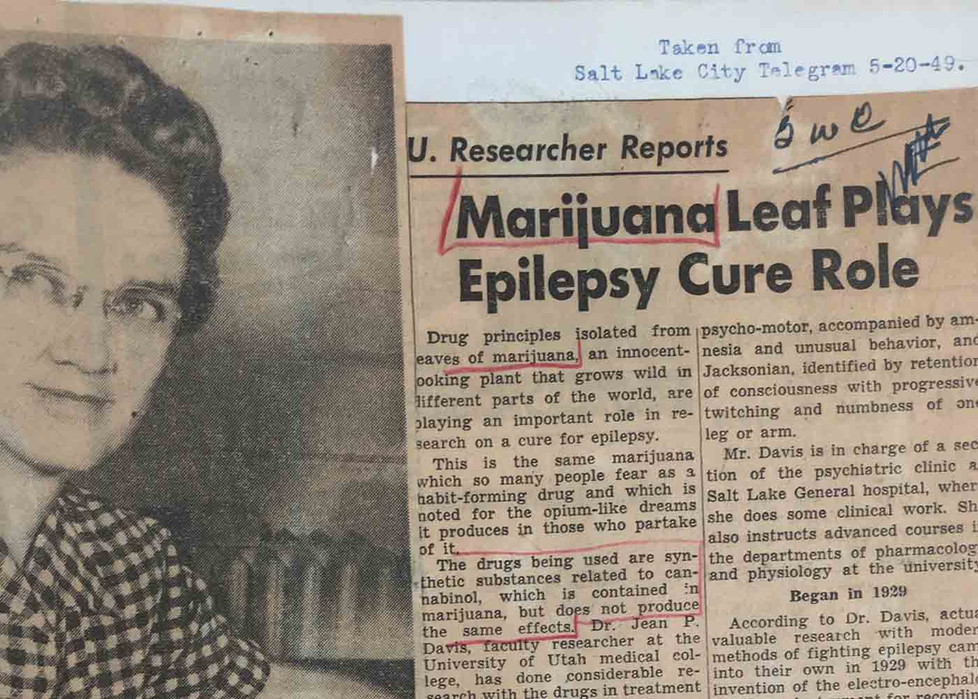 NEARLY CENTURY OLD RESEARCH PROVES CANNABIS' EFFECTIVENESS IN BATTLING EPILEPSY, MIGRAINES, ASTHMA, SPASMS…