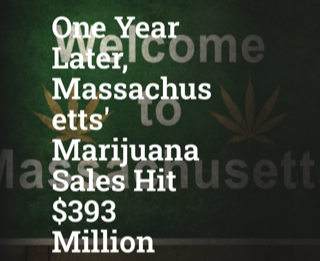 One Year Later, Massachusetts' Marijuana Sales Hit $393 Million